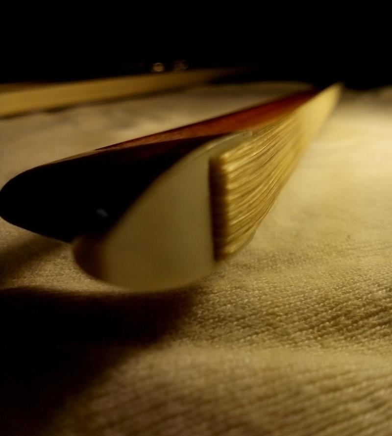 Hanging detail horsehair violin