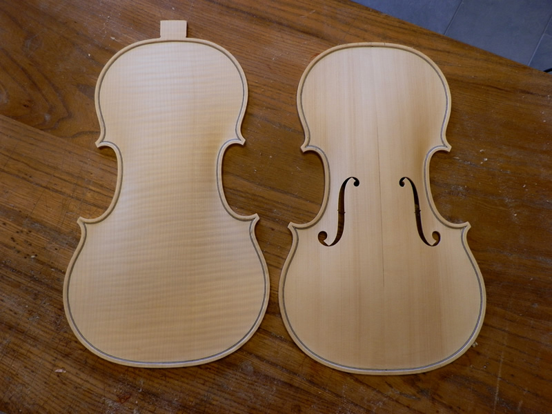 Violin construction phases